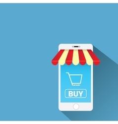 Mobile online shopping concept vector