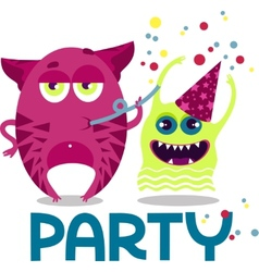 Monsters party vector image