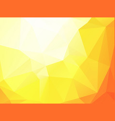 orange yellow triangular background vector image