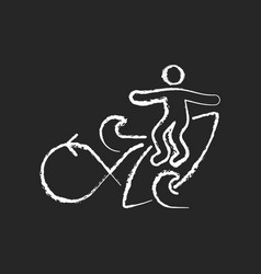 performing roundhouse cutback in surfing chalk vector image