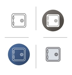 Safe deposit box icons vector