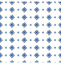 Seamless folk pattern Russian style vector image