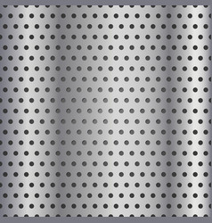 seamless metallic grid pattern vector image