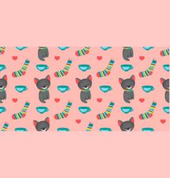 Seamless pattern for girls alice in wonderland vector