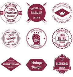 set brand design badge and label vector image