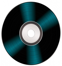 Shiny video cd vector