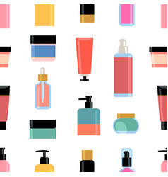 Skin care cosmetics set vector