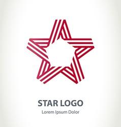 Star ribbon logo Corporate logotype template vector