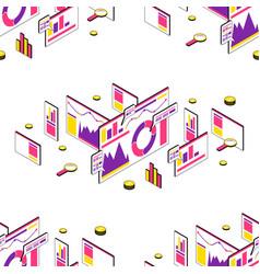 stock seo analytics seamless pattern vector image