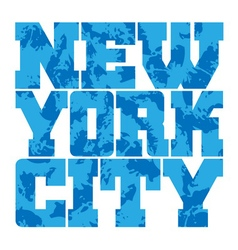T shirt typography graphics New York blue grunge vector image