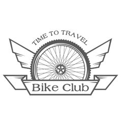 the emblem on theme cycling club vector image