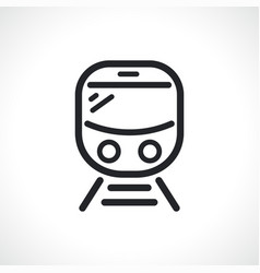 train or subway line icon vector image