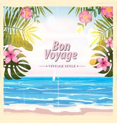 Travel poster concept have nice trip - bon voyage vector