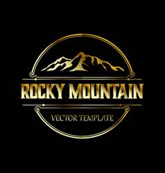 vintage rocky mountain logo design vector image