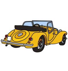 Vintage yellow cabriolet vector