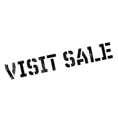 Visit sale rubber stamp vector