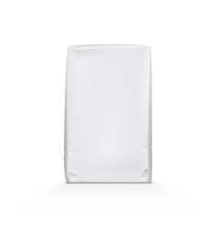 White clear paper or foil plastic bag pack vector
