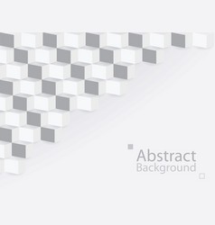 White gray abstract background square 3d modern vector