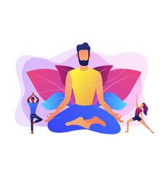 Yoga school concept vector