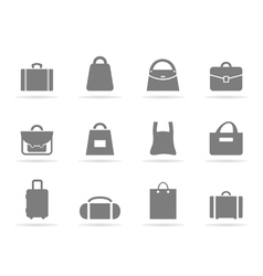 Bag an icon vector