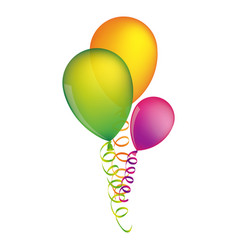 multicolored balloons with serpentine design vector image vector image
