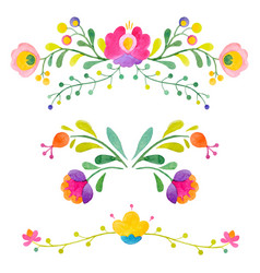 watercolor abstract flowers vector image vector image