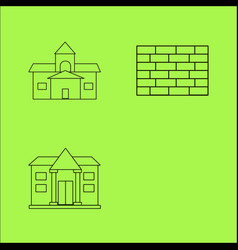 buildings ans construction simple linear outline vector image vector image