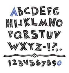 Cartoon Retro Font vector image vector image