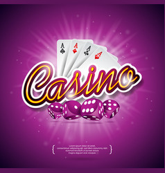 casino with color playing chips poker vector image vector image