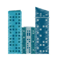 drawing building architecture modern vector image