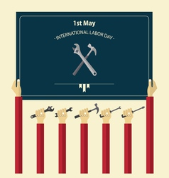 International labor day poster vector