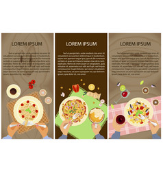 persons are eating vector image vector image