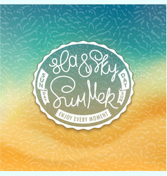 Sea sky and summer styled coast background vector