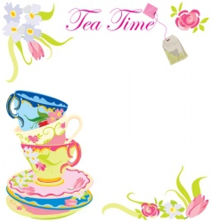 tea time party vector image vector image