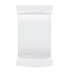 white blank foil packaging plastic pack ready vector image