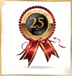25 years anniversary label vector image vector image