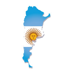 argentina flag amp map vector image