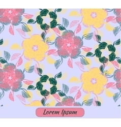 Card with floral decoration and place for text vector image vector image