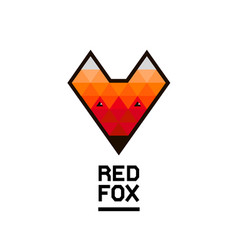 faceted geometric fox logo vector image