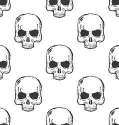 Human Skull Seamless Pattern vector image