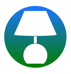 lamp sign white icon in vector image