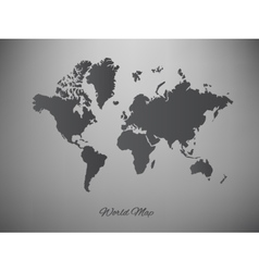 paper world map on a white background vector image