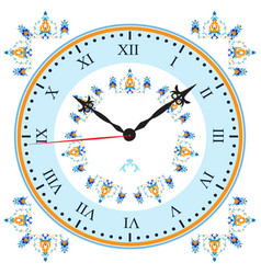 clock with oriental pattern vector image vector image