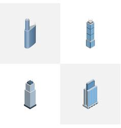 Isometric skyscraper set of building tower urban vector