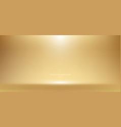 3d empty golden studio room background vector