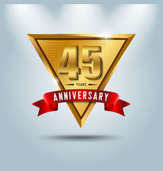 45 years anniversary celebration logotype vector image