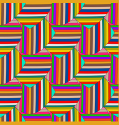 abstract colorful striped seamless pattern vector image