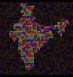 Abstract map of india colorful dots vector