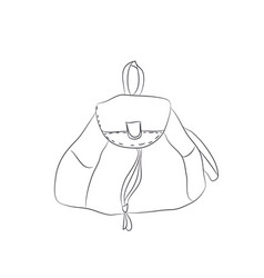 backpack lines vector image