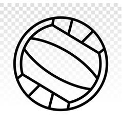 Beach volleyball ball line art icons vector